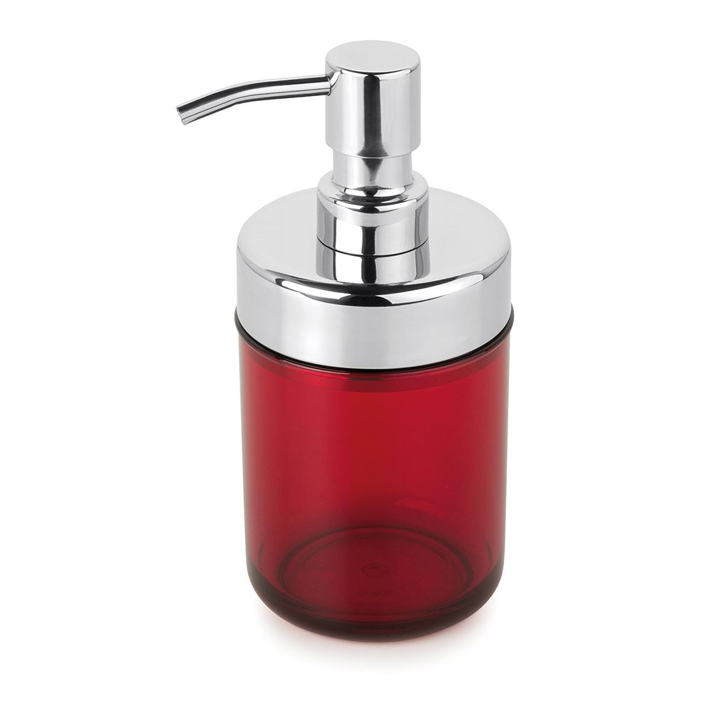 Kit 6 Dispenser Sabonete Líquido Acquaset Vermelho Forma