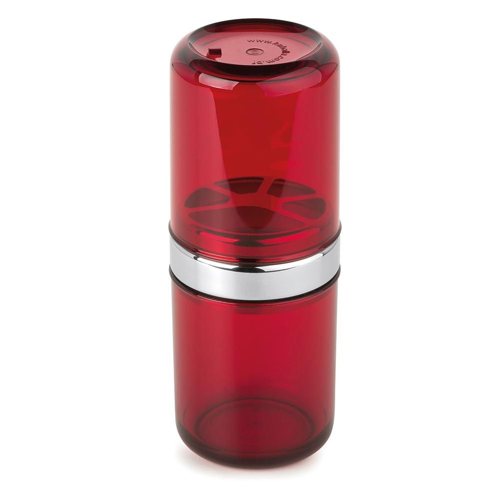Conjunto c/6 Porta-Escovas com Tampa Acquaset Vermelho Forma