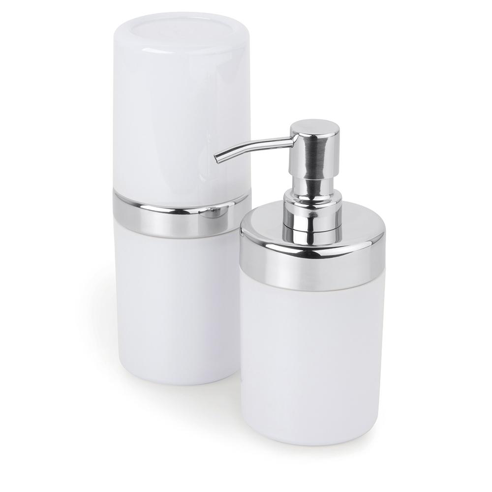 Conjunto p/ Banheiro Duo Lavabo 2 pcs Acquaset Branco Forma