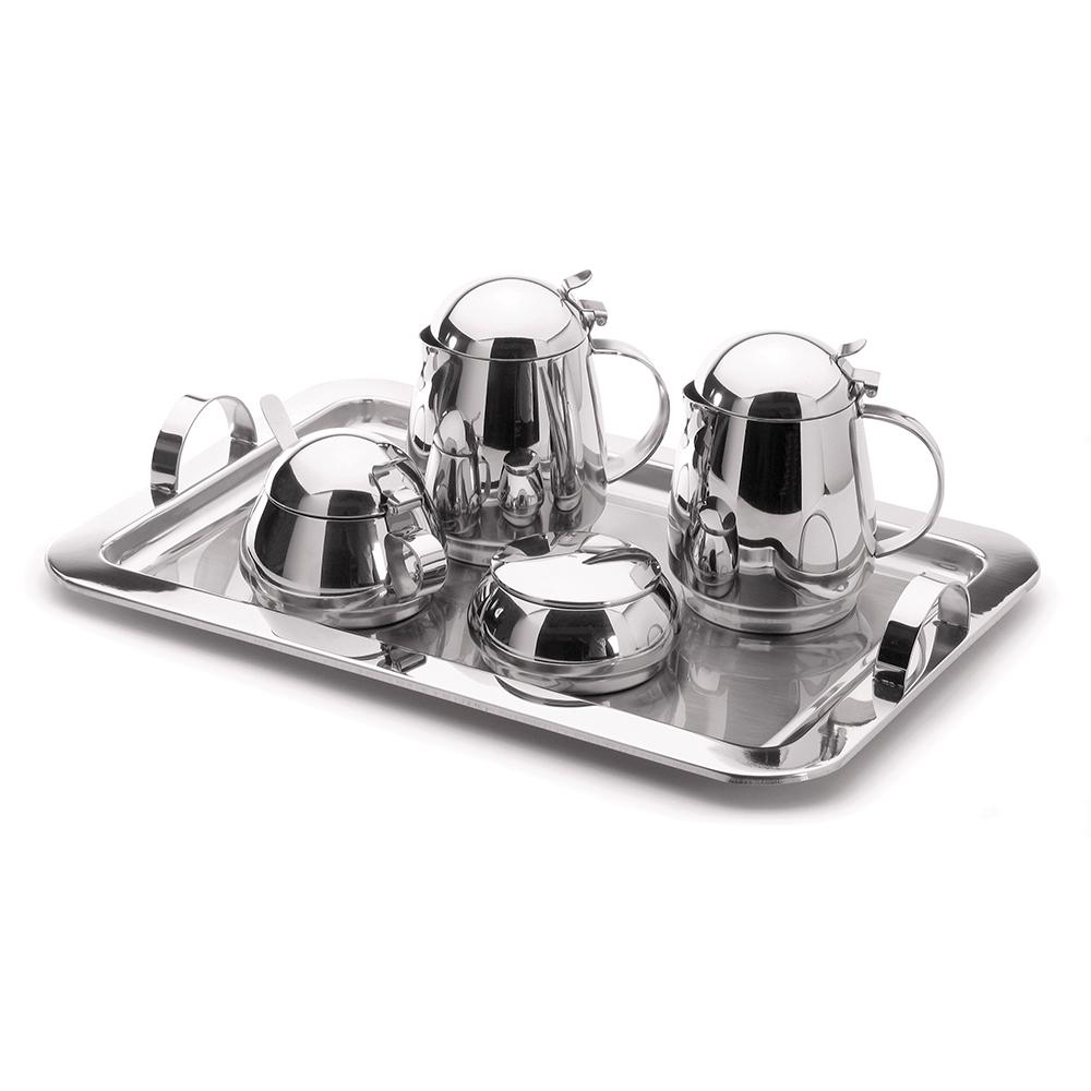Conjunto Chá e Café Lyr Inox 6 peças Forma