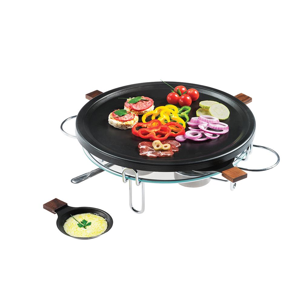 Raclette-Grill 8 peças 37 cm Preto Forma