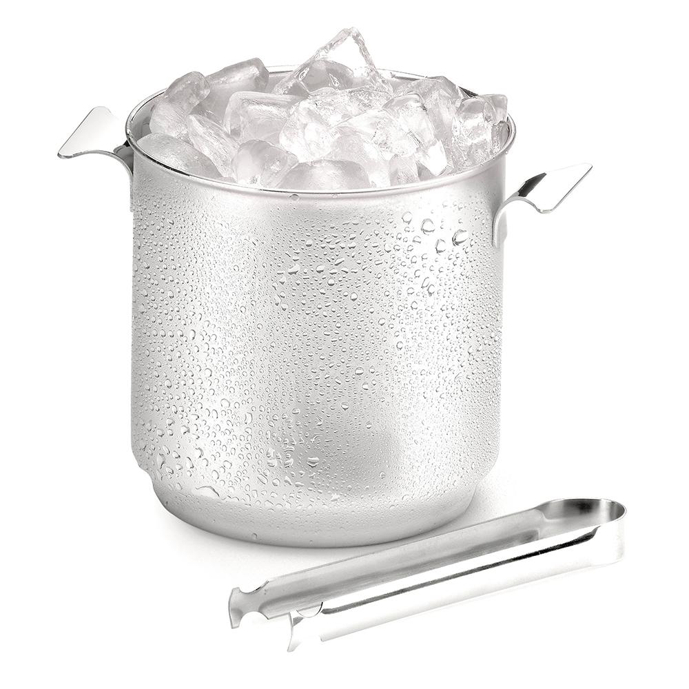 Balde para Gelo Bartender Inox com Pinça 1,3 l Forma