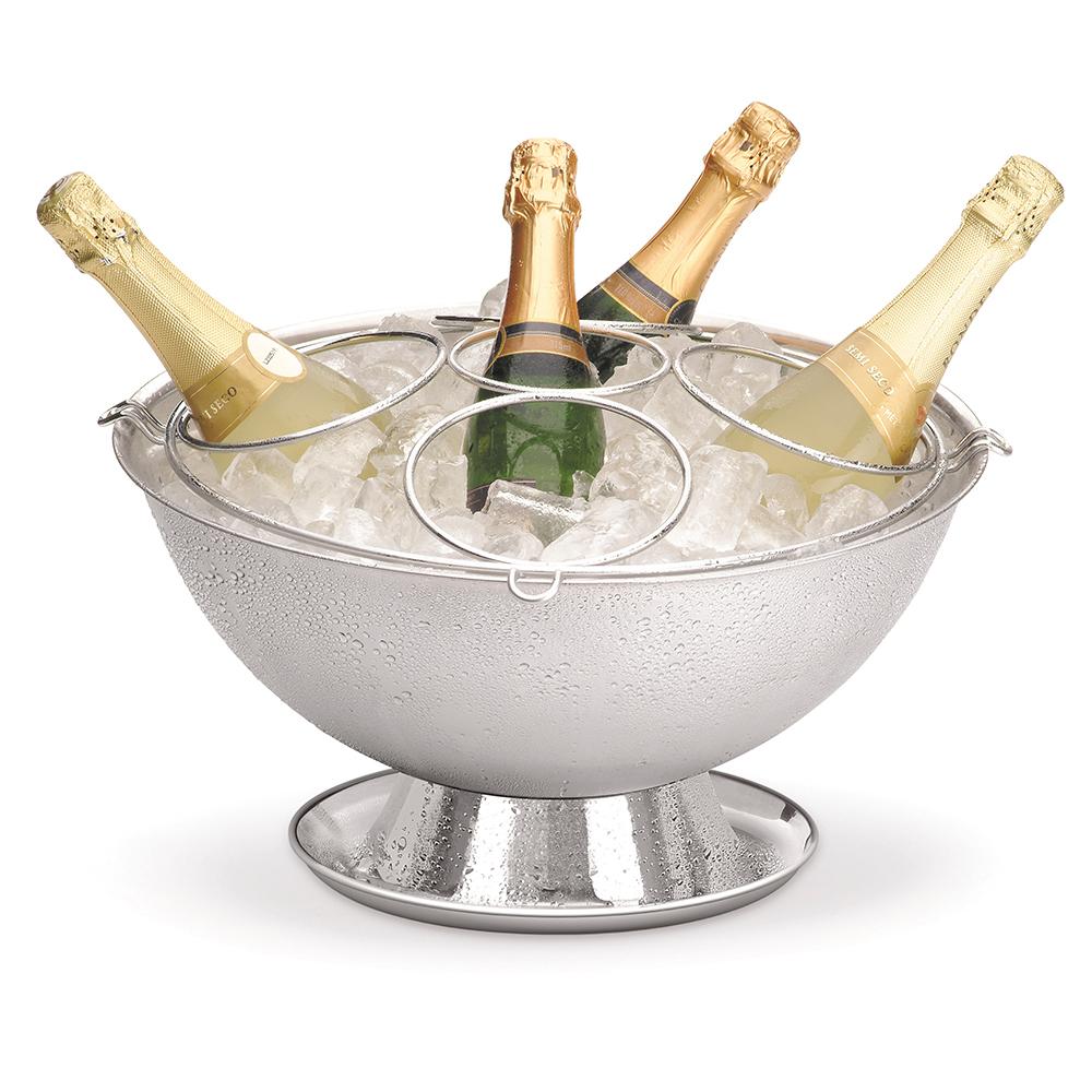 Champagneira Inox Perlage com Base Coletora e Grelha Separadora Destacável 12,2 Litros Forma