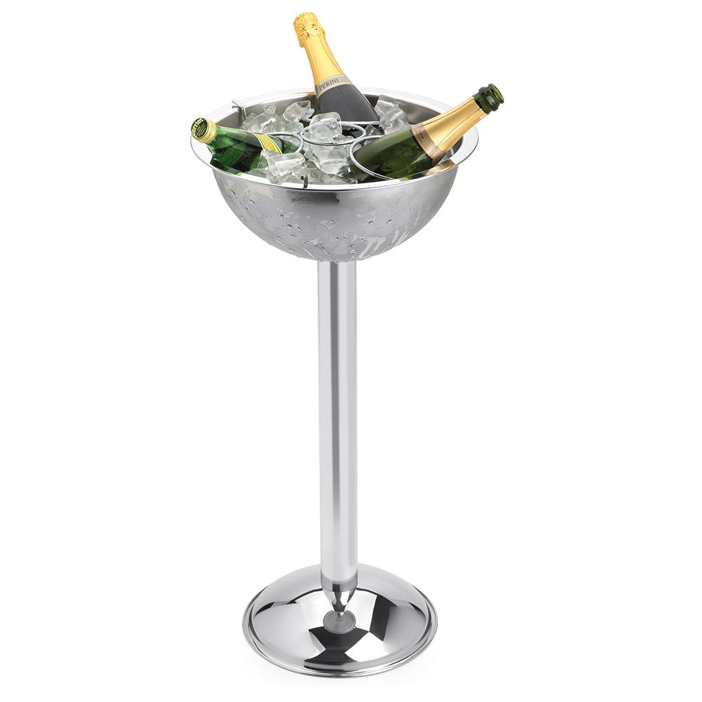 Champagneira Inox com Pedestal e Grelha Separadora Destacável 8 Litros 3 Garrafas Forma