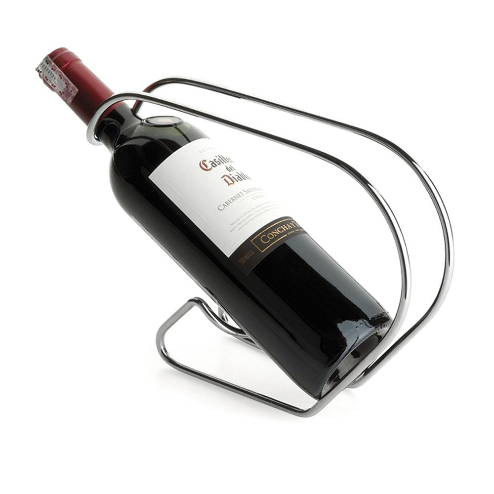Suporte Para Vinho Vinoserv Aço Cromado Forma