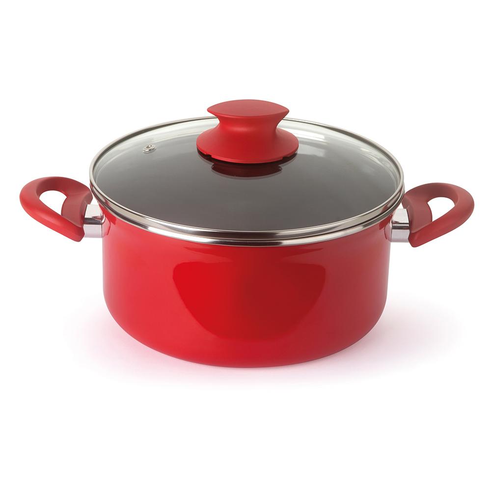 Caçarola Esmaltada Vermelha Vivace 22 cm 3,5 litros Forma