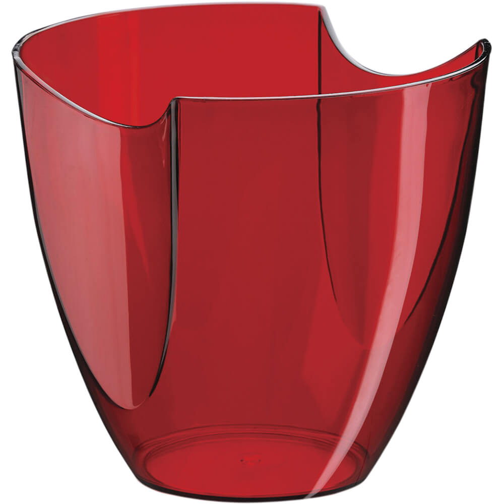 Champanheira Modular Vermelha Translúcida Poliestireno 4 Litros