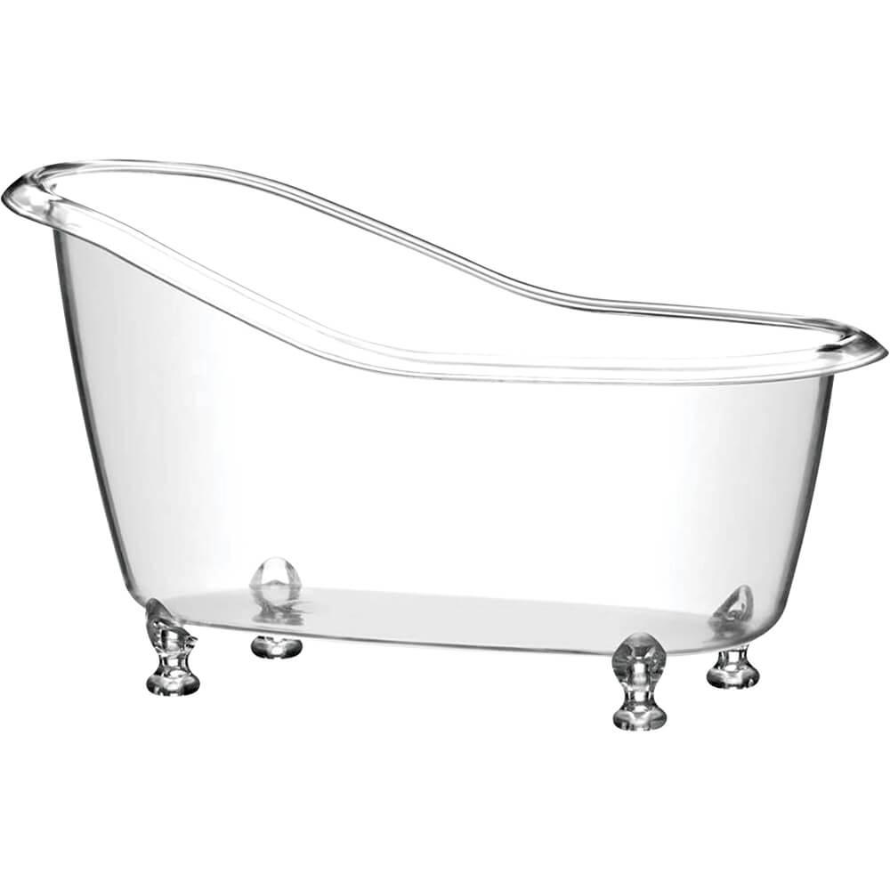 Banheira Beauty Transparente Poliestireno 1 Litro 25cm