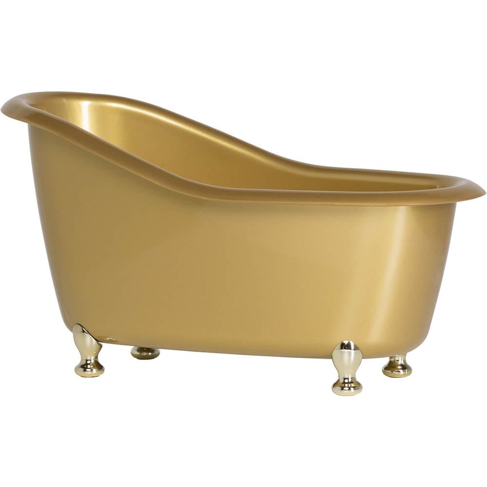Banheira Beauty Dourada Marmorizada Poliestireno 1 Lts 25cm