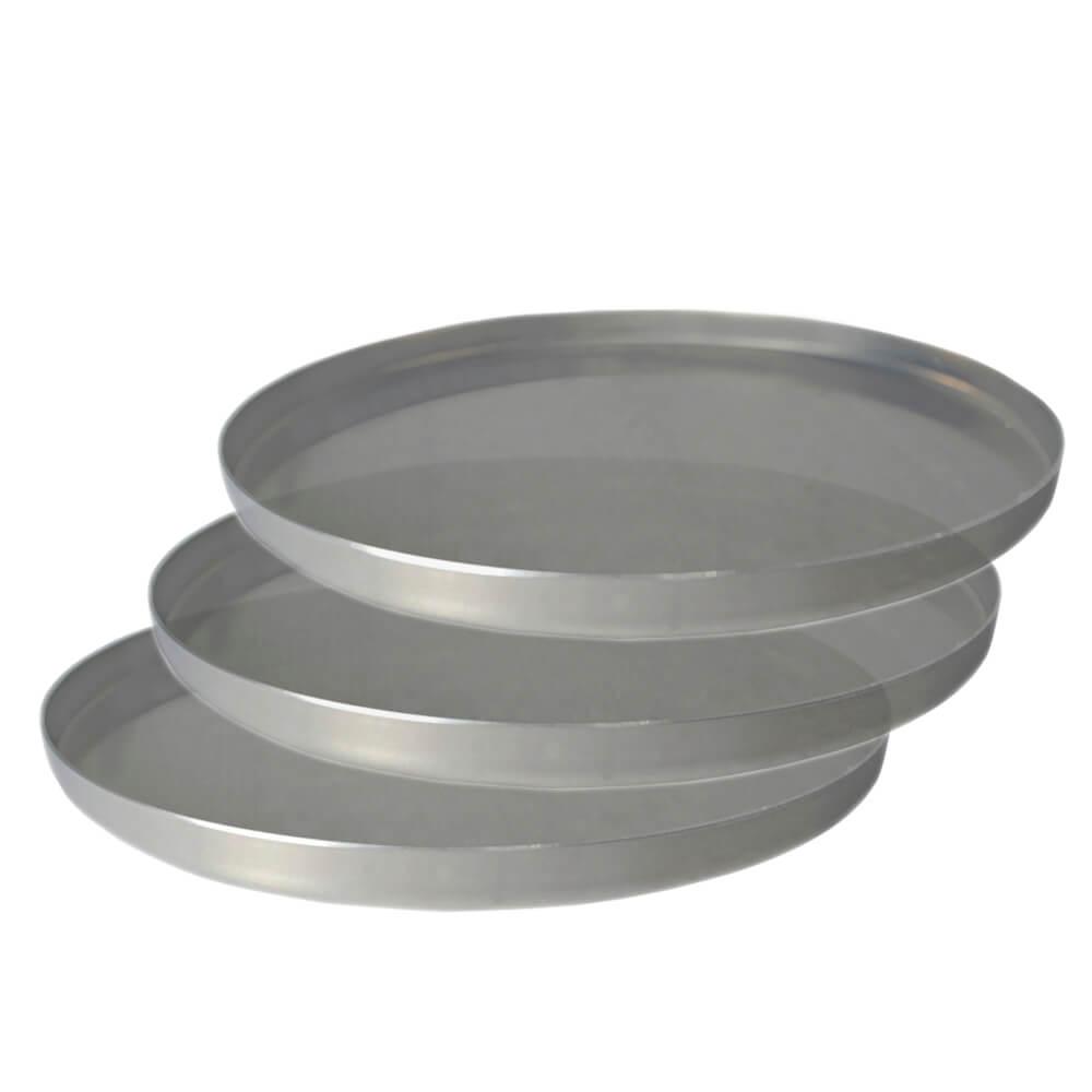 Kit 3 Formas de Pizza Alumínio Média 30 cm Uso Profissional