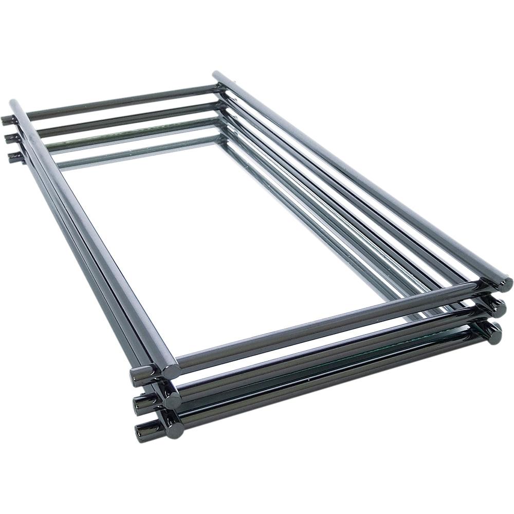 Bandeja Espelhada Wire Onix 10x10cm