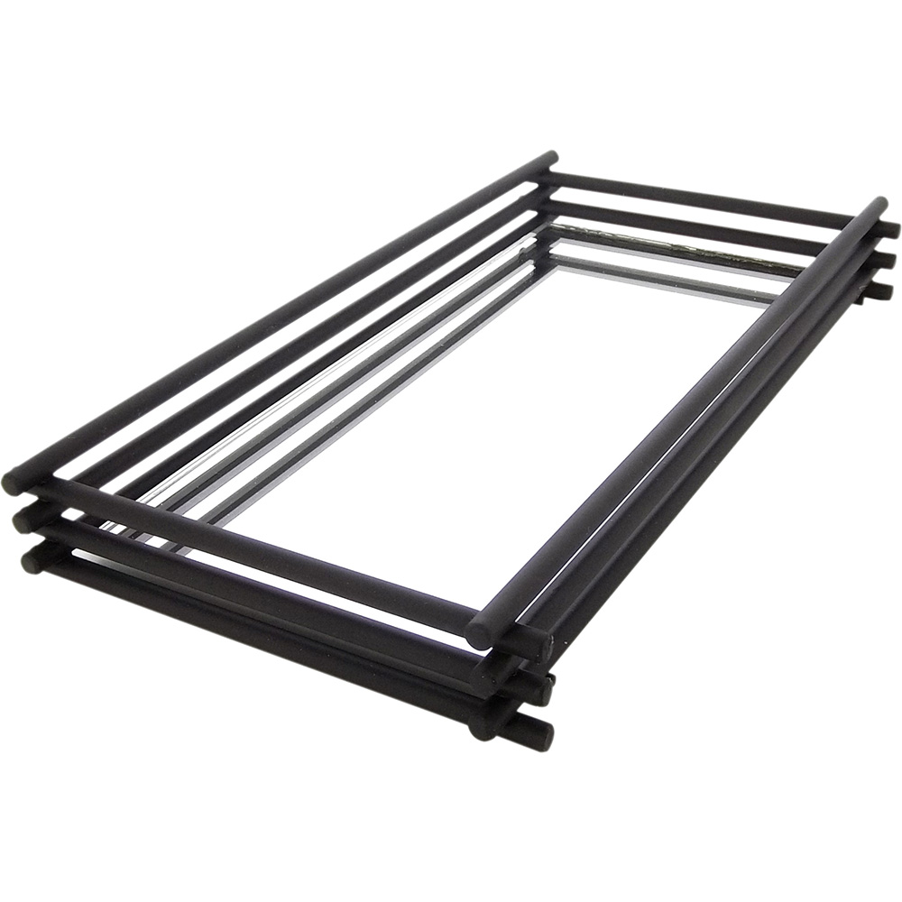 Bandeja Espelhada Wire Black Matte 10x20cm