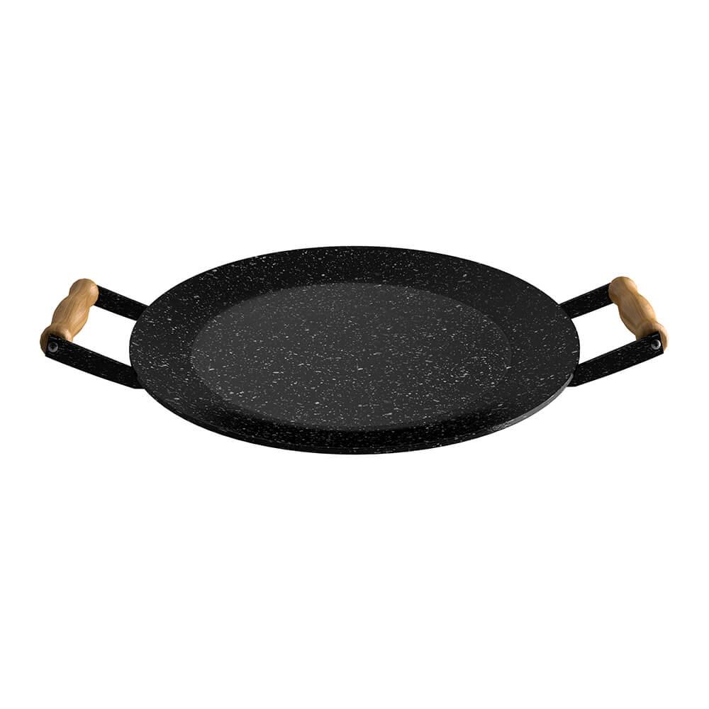 Disco Bifeteira Esmaltado com Alça de Madeira Qualinox