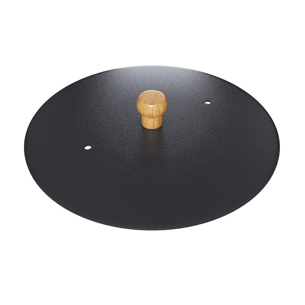 Tampa Disco Preta 30cm Diâmetro Qualinox