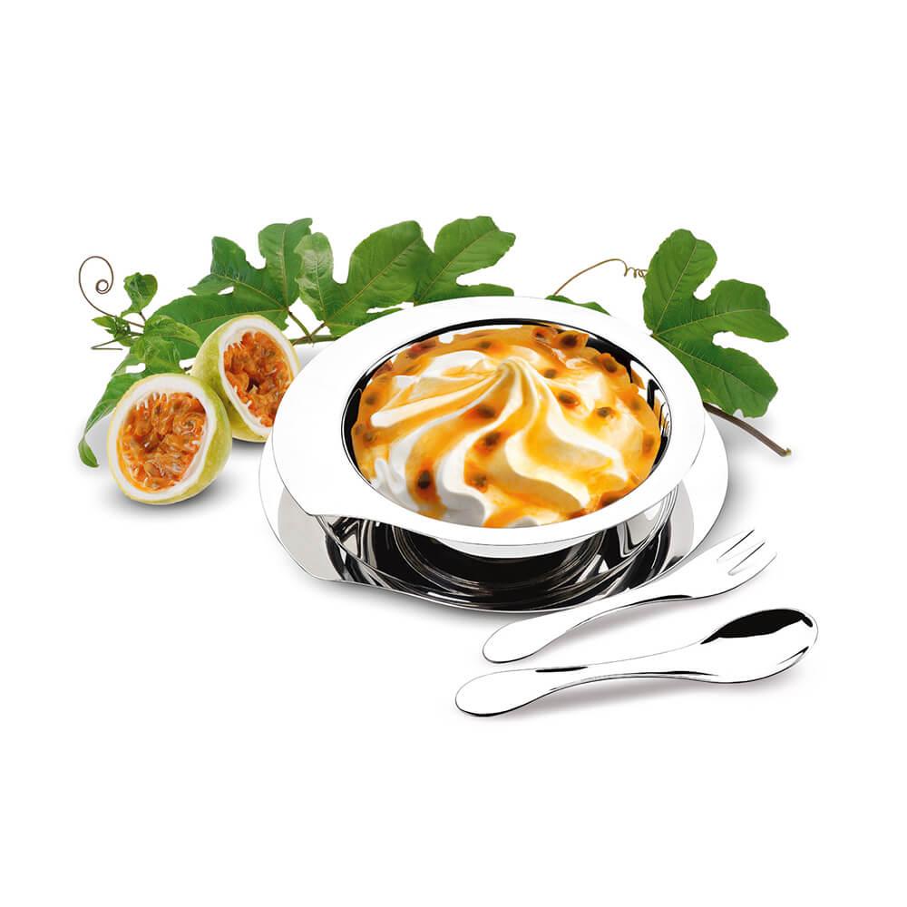 Kit Sobremesa Inox 4 Peças